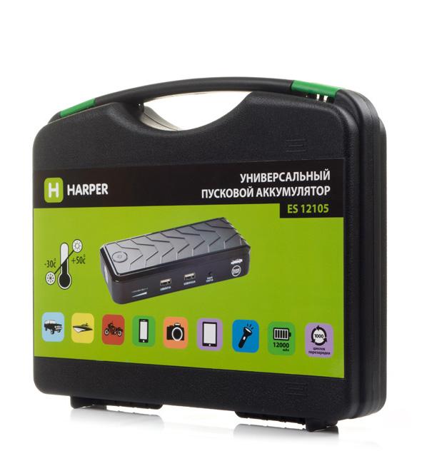 Аккумулятор пусковой универсальный Harper ES-12105 - фото 8